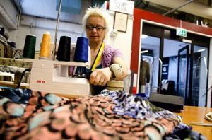 Favoritmaskinen är Solveig Sefastssons Overlock. En symaskin som både syr och klipper på samma gång.