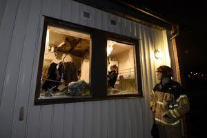Räddningstjänsten genomförde en så kallad efterkontroll för att se om branden fått någon spridning.