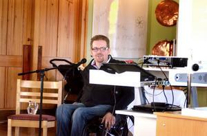 Lars Andersson var gästtalare under den Nationella anhörigdagen som arrangerades i Sankt Paulusgården under lördagen.