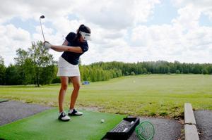 Emma Berlin från Täby GK var en av finalisterna i Skandia Tour-tävlingen i Kumla