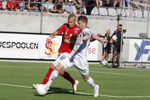 Johan Bertilsson har gjort mål i två matcher i rad för Gefle IF, och får symbolisera lagets fina form som gett poäng i fem raka matcher. Men nu väntar tuffare motstånd.