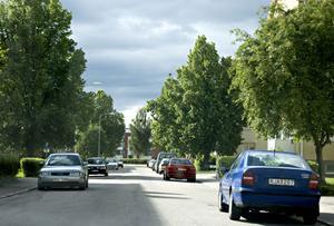 Gärdesgatan är den mest grönskande av gatorna