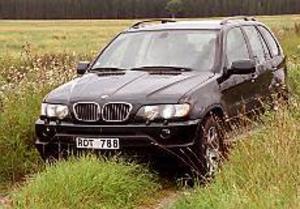 Foto: OLLE HILDINGSON Bjässe. BMW X-5 tillverkas i USA för i första hand den amerikanska marknaden. Det mycket höga priset till trots står också svenskar i kö för bilen.