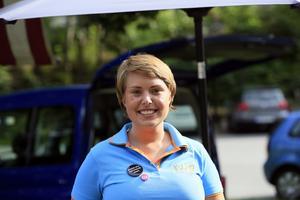 En av de yngre talarna var Cecilia Nordström. Hon talade varmt om de goda kommunikationerna och närheten till Stockholm.