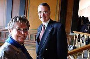 Foto: OLA SVÄRDHAGENByte i ledningen. Margareta Berg Kjellin tar över efter Patrik Norinder som bas för moderaterna i länet.