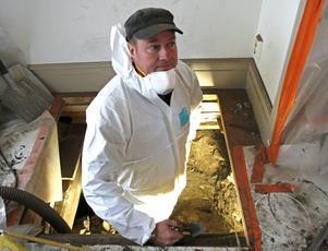 Ola George, antikvarie och arkeolog vid Murberget/länsmuseet Västernorrland, betecknar fornfynden under Styrnäs kyrka som mycket intressanta.
