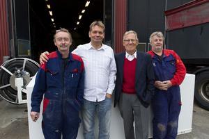 Satsar på egna produkter. Anders Hägglund, Jan-Erik Iversen, ny vd, och Rolf Lövström äger företaget medan Alf Forsberg är styrelseordförande.