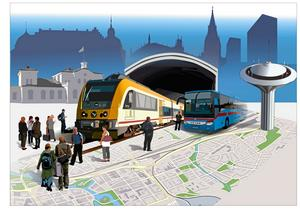 Hur ska tågtrafiken gå i framtiden? Och bussarna? Teckning: Riad Al-khiat