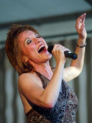Annelie Rydé i Undici-tältet på måndagskvällen.