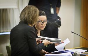Johanna Möller under första rättegångsdagen.