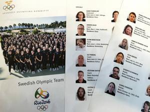 Hela den formella OS-truppen finns med i SOK:s så kallade Team-bok.