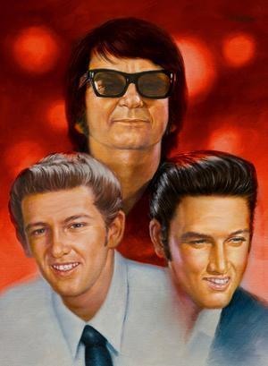 Originalen. Jerry Lee Lewis, Roy Orbison och Elvis Presley.