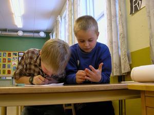 Skolelever i Rättvik.