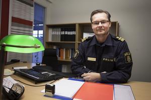 Mats-Ove Edvinsson är tillförordnad chef för polisområde Jämtland.