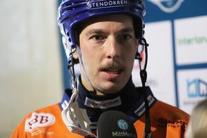 Christian Mickelsson gjorde hattrick i matchen mot Vänersborg och ledde sitt lag till segern.