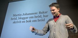 Martin Johansson berättade om sin brödblogg under tisdagens matseminarium i Bollnäs.