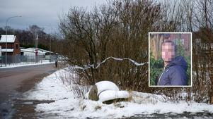 Här, utanför ett verkstadsområde i Påarp, påträffades den 46-årige mannens kropp på lördagen. Osama Daknash tror att 22-åringen (pixlad bild) har med mordet att göra.
