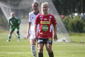 Nyförvärvet Malin Jonsson från team Hudik spelade hela matchen.