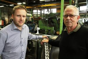 Staffan Gustavsson, VD i LSAB och Börje Vikström VD i Westlings är nöjda sedan Investment AB Latour har köpt Westlings via LSAB Group AB.