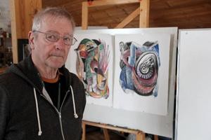 Björn Ståbi var också en framstående konstnär. Foto: Sven-Erik Jönsson
