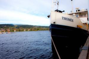 Ångbåten Thomée när hon låg i Östersunds hamn. Arkivbild.
