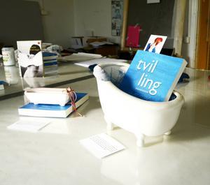 Flera symbolladdade objekt bildar en utställning som ska visas i samband med presentationen av boken.