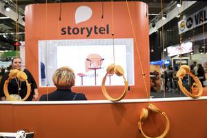 Ljudboksförlaget Storytels monter under bokmässan.