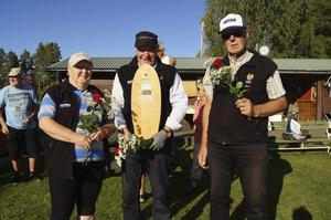 Segrarna Alfta fr.v.: Britt-Marie Hall, Karl-Erik Lindblom och Sture Hall. Foto: Kalle Lundqvist