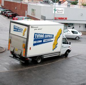 Timrå Express hör till flyttfirmorna i regionen, fast dom har flyttat från Timrå dom också och skriver sig i Sundsvall sedan många år.