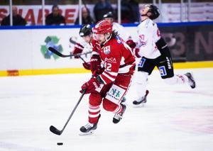 André Hult i Timråtröjan under sin senaste sejour i svensk hockey. Foto: Cecilia Träff