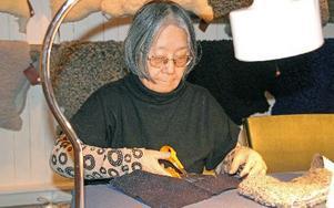 Keiko Larsson var en av de som ville slöjda ett eget hjärta.