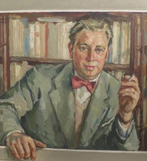 Vännen Kjell Löwenadlers porträtt av Rune Lindström.