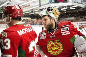 Ishockey. Det sista slaget. Mora IK. Leksands IF. Kval. Derby. SHL. Hockeyallsvenskan. Christian Engstrand.