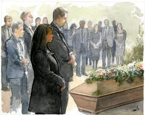 Anna sörjde på sin fars begravning tillsammans med släkten. Men mannen i kistan var inte hennes far.