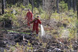 Räddningstjänsten från Alfta plus en tankbil från Edsbyn ryckte ut till de två mindre skogsbränderna på torsdagen.