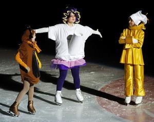 Ett riktigt charmig inslag stod Clockworth (Martina Åslund), Fru Potts (Maja Ellenberg-Tuck) och Lumiere, (Sandra Ciuksyte) för.