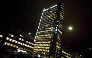 Expressens och Dagens Nyheters byggnad på Kungsholmen i Stockholm.