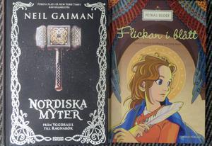 Nordiska myter och äldre kyrkokonst som stoff för barnböcker.