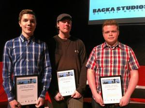 Jonathan Ortheden, Carl Wahlberg och Martin Lundkvist representerade de två lag som vann årets Hackathon.