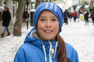 Havanna Jansson Sjöberg, 8 år, Åsarna: – Ja. Sverige är bra och ger aldrig upp. Det går bra ändå, utan Zlatan.