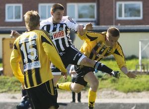 Niklas Bergström och hans Strand jobbade sig till en poäng mot Korsnäs.