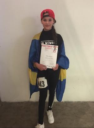 Foto: Privat. Tilde Södergren tog sig nästan hela vägen till final med sin sjundeplats i juniorklassen singel flickor.