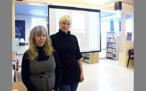 Susanne Alfvin och Madeleine Engelbrektsson.FOTO: ANNA ENBOM