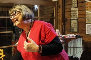 Johanna Faber visade, förutom korsstygn och lappteknik, en typ av broderi som görs med nålar.