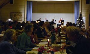 Veterangänget underhöll under klabbfesten på Rättviks församlingshem i lördags.