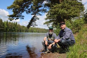 Stefan Larsson och  Per Leandersson  är mycket glada över att fisktrapporna byggs. Hur länge SIljanöringen kommer att vara fredad vet de inte. Det beror på hur fisken återetablerar sig i framtiden.