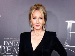 Författaren J K Rowling.
