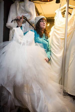 Milla Cederholm är en av initiativtagarna till vinterbröllopet på julmarknaden i Sörberge.