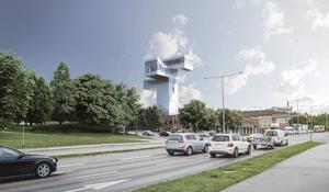Mats-Ove Erikssons bostad ska bli 36 meter hög.