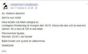 I höstas kallade 25-åringen till ett flertal informationsmöten i Jax moské i Borlänge. Ingen anande hans planer på att åka till Syrien och IS.